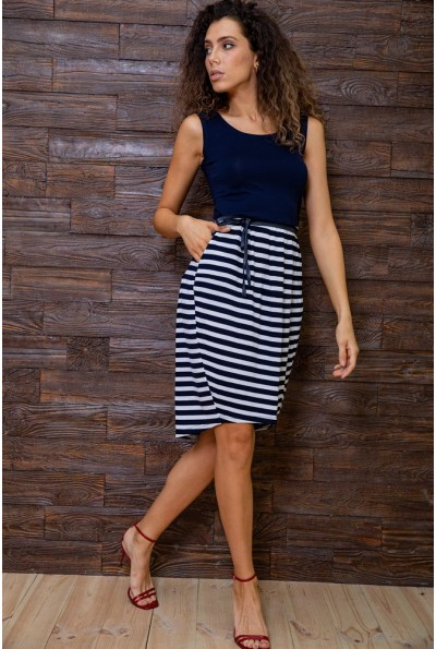 Платье  цвет сине-белый 167R4-7 62920