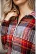 Рубашка женская 119R1318 цвет Красно-черный скидка