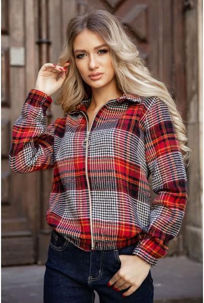 Рубашка женская 119R1318 цвет Красно-черный