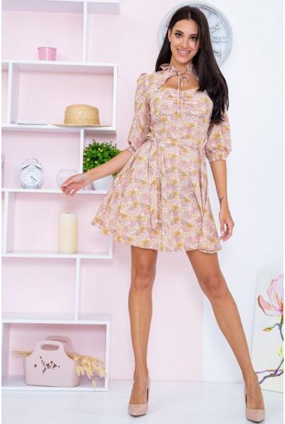 Платье  цвет пудровый 104R0040 67116