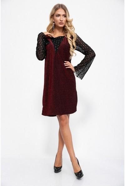 Платье 115R3541-1 цвет Красный