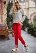 Спорт брюки женские 131R0057-4 цвет Красный недорого