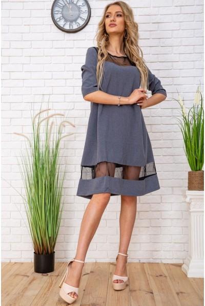 Платье свободного кроя с фатиновыми вставками цвет Серый 172R44-1 57261