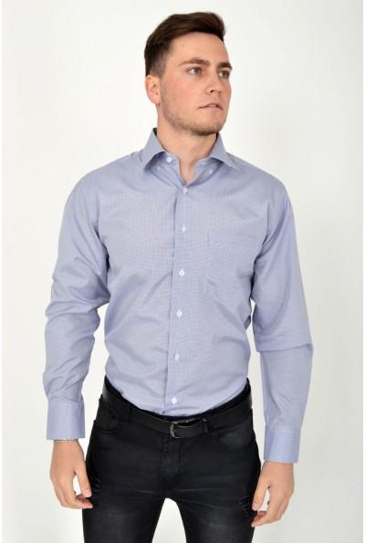 Рубашка 9021-31 цвет Серо-белый,клетка