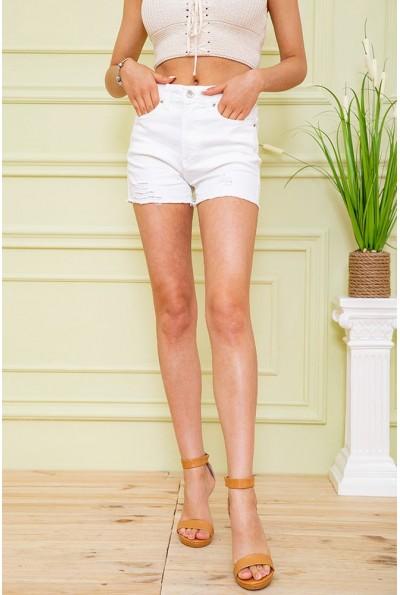 Джинсовые шорты женские 164R1159 цвет Белый 59140
