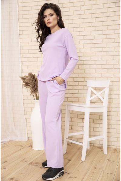 Спортивный костюм женский прогулочный однотонный цвет Сиреневый 104R0035 49291