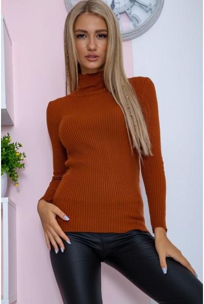 Гольф женский базовый  цвет коричневый 117R021 14734