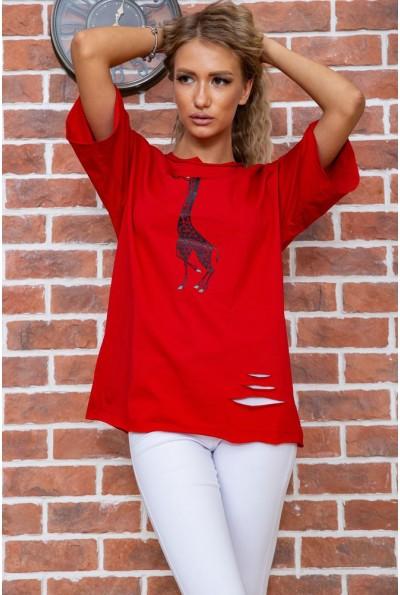 Футболка женская  цвет красный 102R210 63367