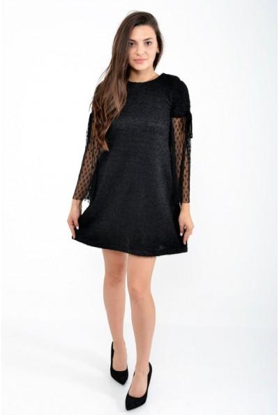 Платье свободного кроя черного цвета 115R072