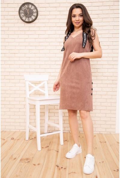 Платье-сарафан из эко замши цвет Бежевый 104R005-1 55163