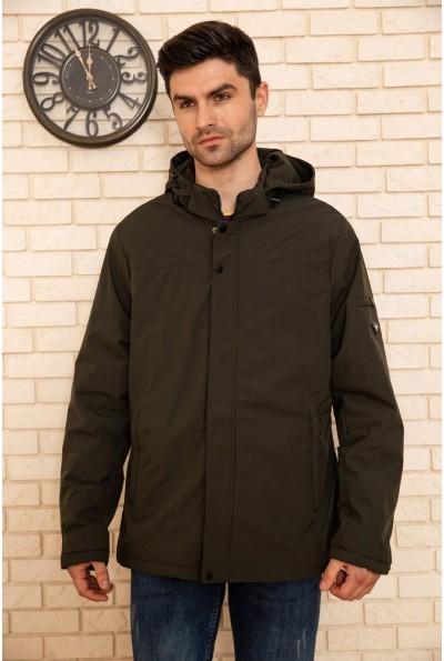 Куртка мужская с капюшоном демисезонная цвет Хаки 129R8804