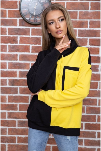 Свитшот женский  цвет черно-желтый 102R218 66459