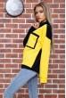 Свитшот женский  цвет черно-желтый 102R218 стоимость