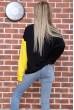 Свитшот женский  цвет черно-желтый 102R218 цена 959.0000 грн