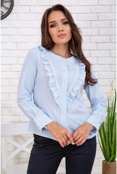 Рубашка женская в полоску  102R200 цвет Бело-голубой 57824