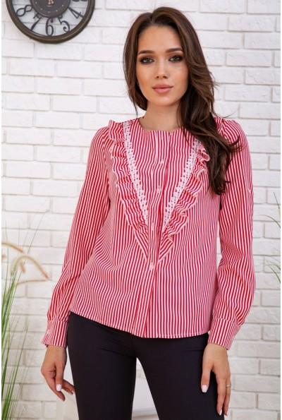 Рубашка женская в полоску   цвет красно-белый 102R200 57826