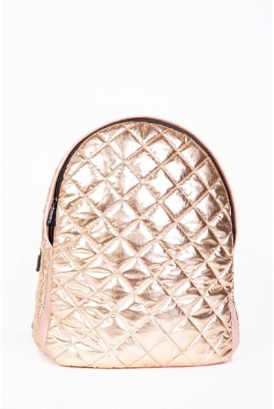 Рюкзак женский стеганый  154R003-45-11 цвет Золотистый 56960