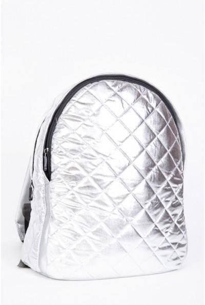 Рюкзак женский стеганый  154R003-45-11 цвет Серебристый 56964