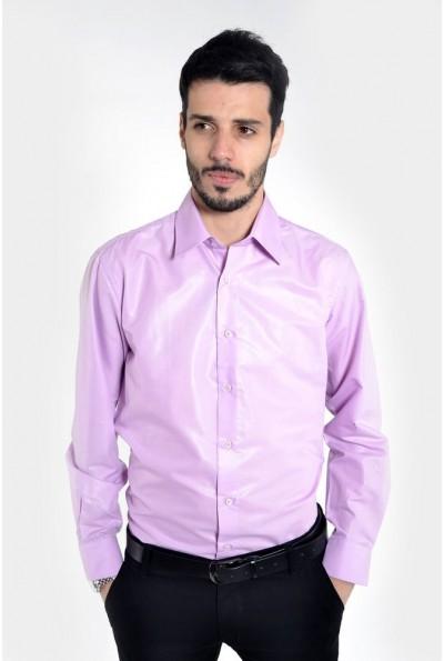 Рубашка мужская фиолетовая 103RMB046