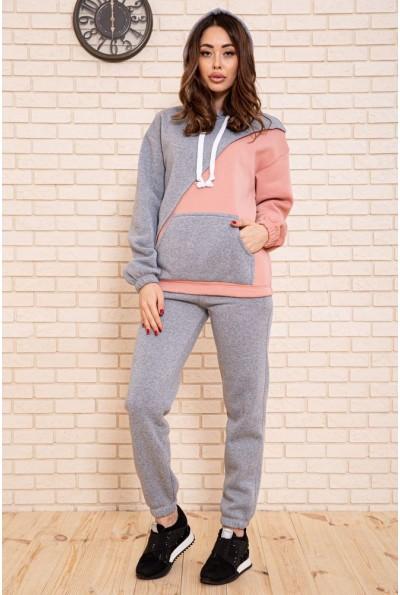 Спортивный костюм женский разноцветный цвет Серо-пудровый 102R141 45368