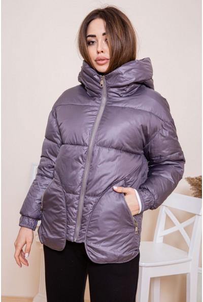 Короткая женская куртка сиреневого цвета 129R1082-3