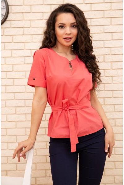 Женская блузка с короткими рукавами цвет алый 172R30-1 55732