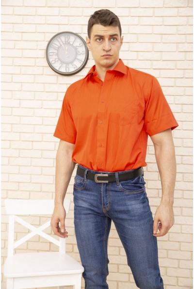 Рубашка коралловая однотонная с короткими рукавами 869-36 8971