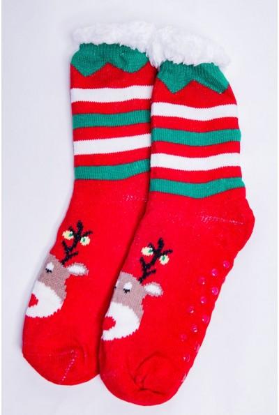 Носки - валенки на меху  цвет красный 151R2035-1 67622