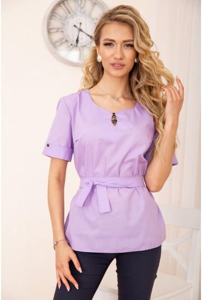 Женская блузка с короткими рукавами цвет сиреневый 172R30-1 55734