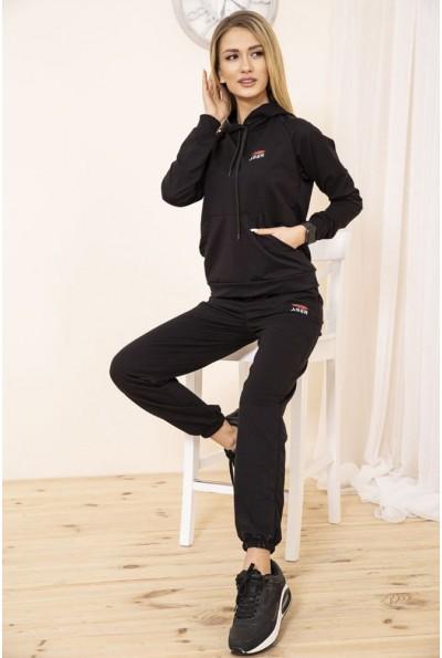 Спортивный костюм женский однотонный цвет Черный 129R1467-14