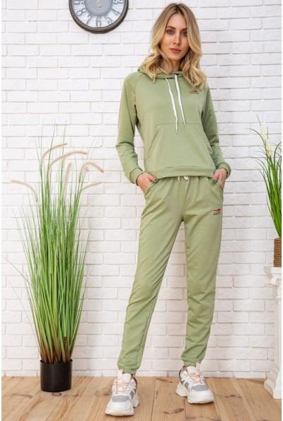 Спортивный костюм женский однотонный цвет фисташковый 129R1467-14 57439