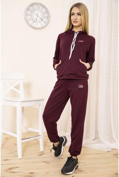 Спортивный костюм женский однотонный цвет Бордовый 129R1467-14 49073