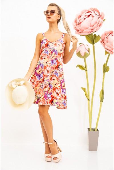 Платье женкое красно-желтые цветы 115R206-4