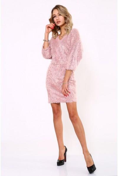 Платье травка пудрого цвета 115R154