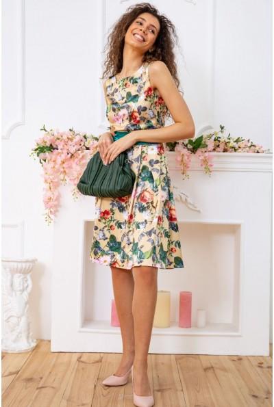 Платье  цвет золотисто-изумрудный 167R0117 59480