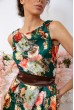 Платье  цвет зелено-коричневый 167R0117 скидка