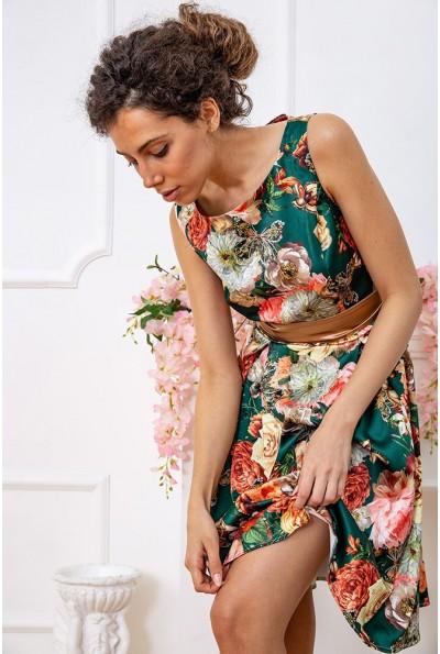 Платье  цвет зелено-золотистый 167R0117 59378