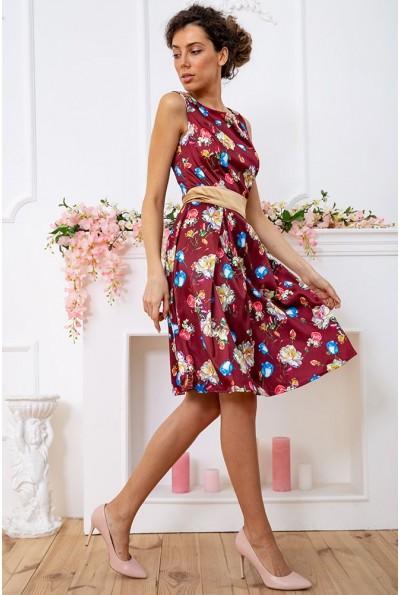 Платье 167R0117 цвет Бордово-золотистый 59374