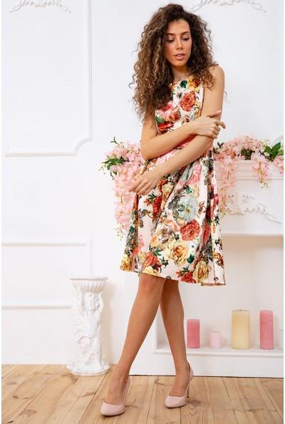 Платье 167R0117 цвет Бежево-розовый 59372