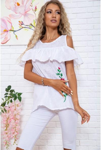 Блуза  цвет бело-красный 177R004 63440