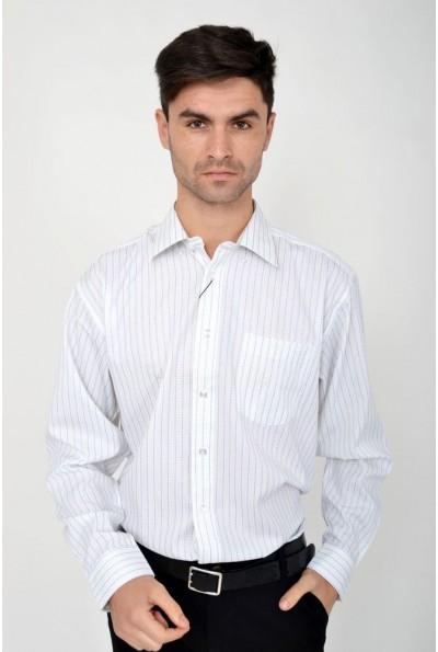 Рубашка мужская классическая бело-синяя Zeg 113R198