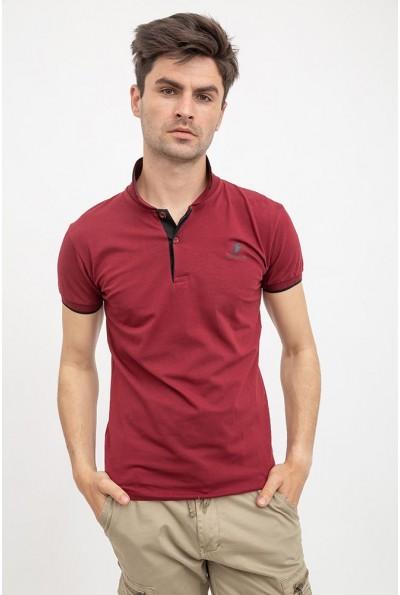 Поло мужское 119R077 цвет Бордовый