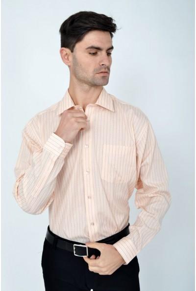 Рубашка мужская розовая деловой стиль Zeg 113R198