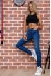 Стильные женские джинсы темно-синие 129R1942 скидка