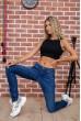 Купить Стильные женские джинсы темно-синие 129R1942 63535