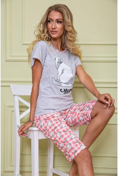 Пижама женская 167R11042 цвет Серо-красный 62676