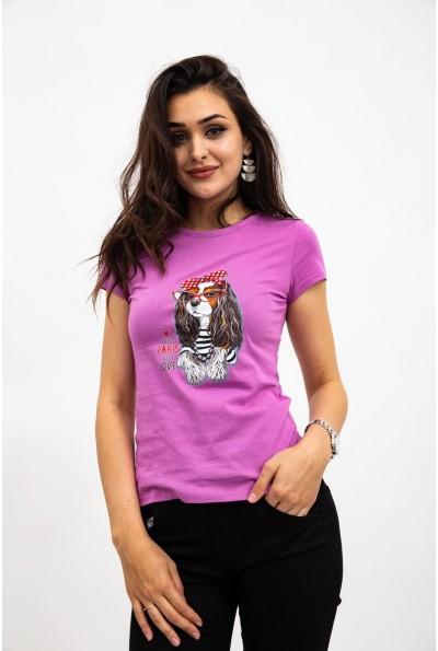 Футболка женская 119R0113-3 цвет Фиолетовый