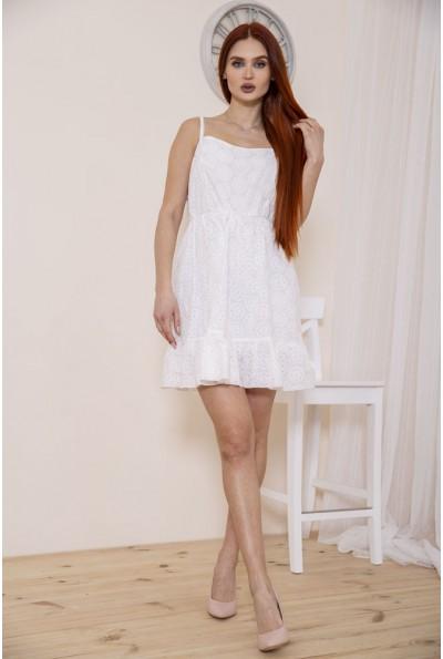 Сарафан женский с воланом  белого цвета 115R402 35144