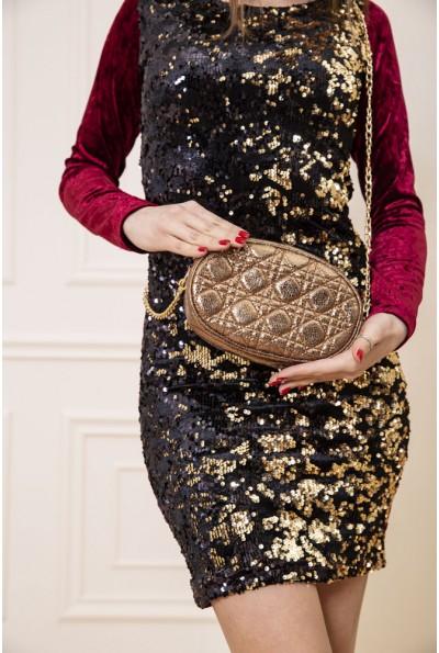 Темно-золотистая поясная сумка-клатч 154R003-25-1 48168