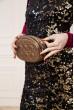 Темно-золотистая поясная сумка-клатч 154R003-25-1 недорого